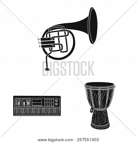 Isolated Object Of Music And Tune Symbol. Collection Of Music And Tool Vector Icon For Stock.
