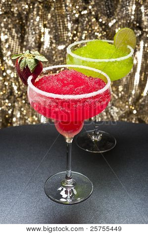 Strawberry And A Classic Margarita