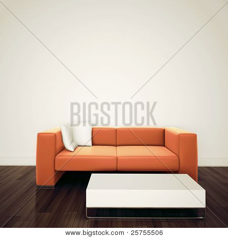 modern Contemporary comfortable interior with 3d rendering modern Contemporary comfortable interior