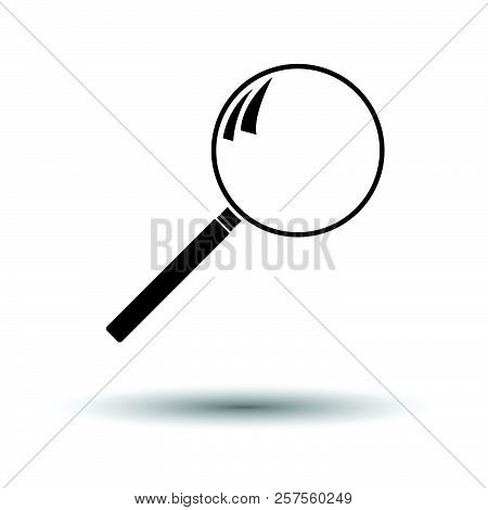 Loupe Icon. White Background With Shadow Design. Vector Illustration.