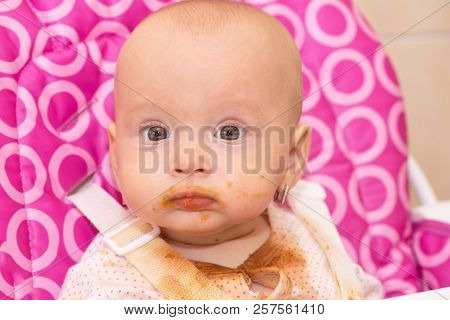 Baby Dirty At His Mouth After Eating