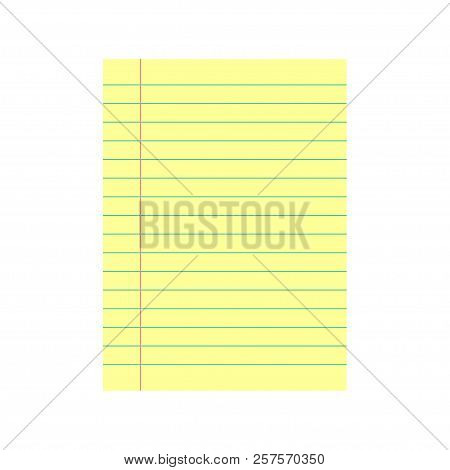 Notebook Paper Vector Photo Free Trial Bigstock