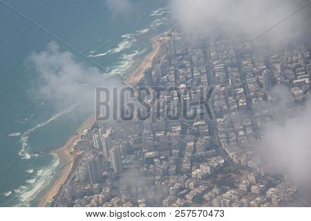 View From Above, Sea, Houses, Coast, Plane, Coast, Sun, Water,