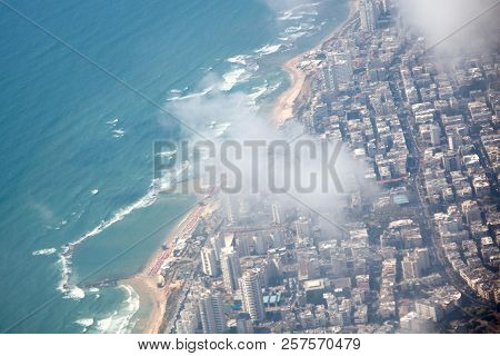 View From Above, Sea, Houses, Coast, Plane, Coast, Sun, Water, Travel, Flying,