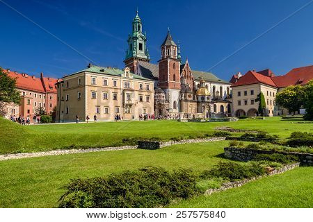Krakow, Poland - August 19:  Medieval Wawel Castle And Cathedral  In Centre Of City On August 19, 20