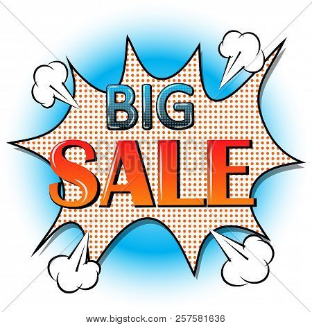 Big Sale Banner, Signboard, Decor For The Store. Special Offer. Background, Vector.