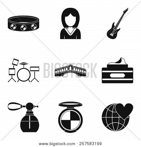 Marriage Ceremony Icons Set. Simple Set Of 9 Marriage Ceremony Icons For Web Isolated On White Backg