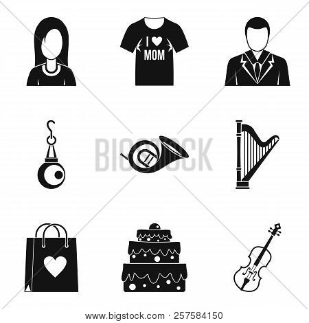 Marry Icons Set. Simple Set Of 9 Marry Icons For Web Isolated On White Background