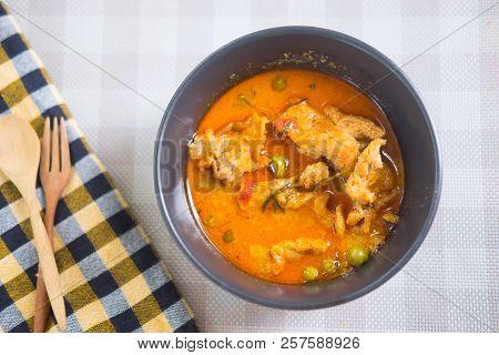 Panaeng Curry With Pork (panang Pork), Top View