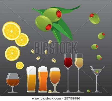 Drink and snack vector