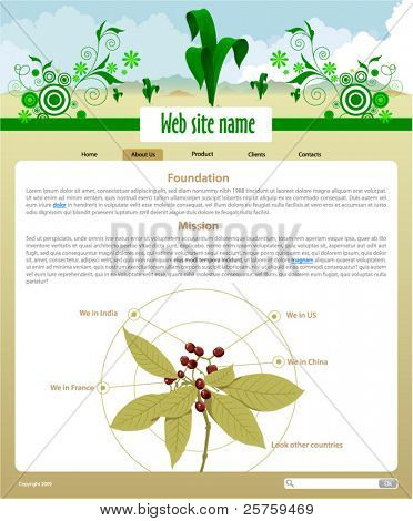 Plants Site Template - About Us page #2