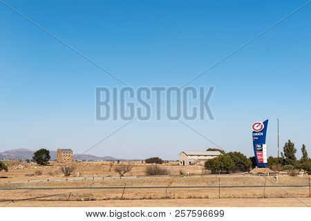 Meyerton, South Africa, July 30, 2018: A Blockhouse, Dating From The Boer War, Is Visible Next To Th