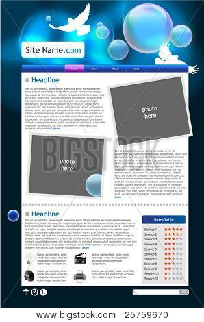 Web site template