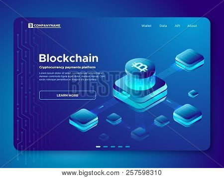 Blockchain Composition. Cryptography Anonymous Cryptocurrency Payments Platform. Secure Connection I