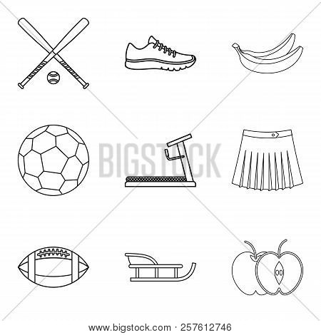 Recreate Icons Set. Outline Set Of 9 Recreate Icons For Web Isolated On White Background