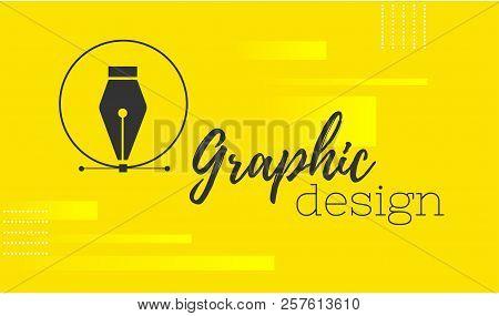Graphic Design. Pen Tool Cursor. Vector Computer Graphics. Banner For Designer Or Illustrator. The C