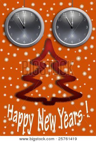 Happy New Year. Orange.