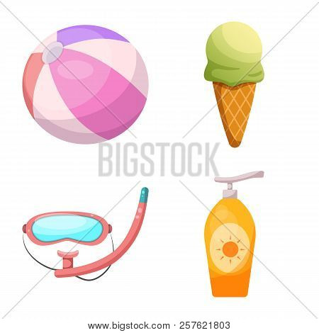 Vector Illustration Of Pool And Swimming Icon. Collection Of Pool And Activity Stock Vector Illustra
