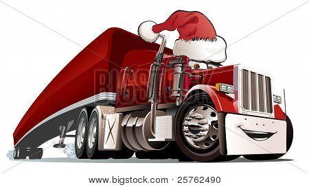 Vector cartoon Christmas truck