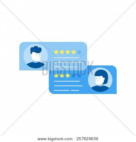 Customer Review Rating Messages, Online Review Or Client Testimonials, Concept Of Experience Or Feed