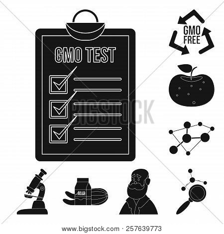 Vector Illustration Of Genetic And Plant Icon. Collection Of Genetic And Biotechnology Stock Symbol