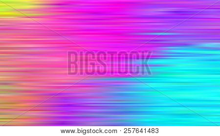 Pattern With Lines Rainbow Aurora Borealis. Abstract Colorful Background. Bright Striped Pattern Vec