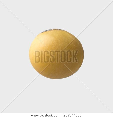 Soybean On White Background And Clipping Path