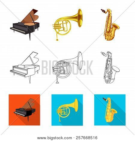 Vector Design Of Music And Tune Logo. Set Of Music And Tool Stock Vector Illustration.