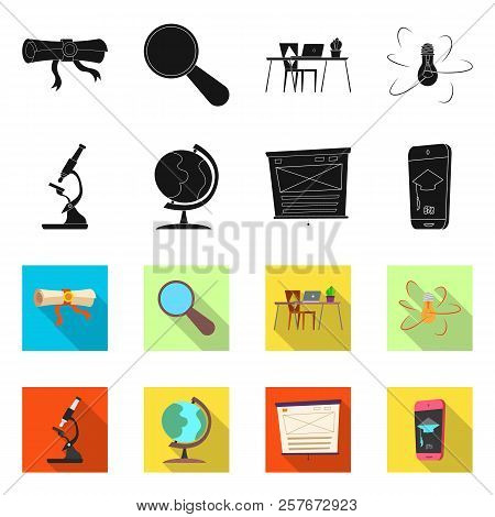 Vector Design Of Education And Learning Symbol. Collection Of Education And School Stock Vector Illu