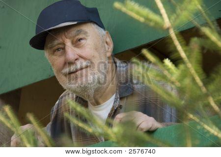 Elderly Funny Face