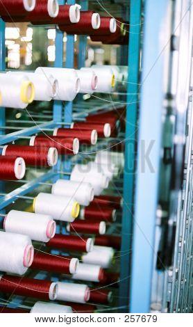 Yarn Spools At A Textile Plant