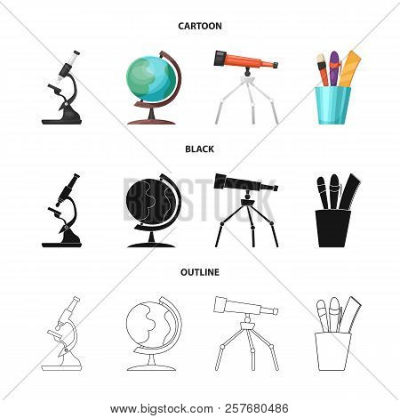 Vector Design Of Education And Learning Icon. Collection Of Education And School Stock Symbol For We