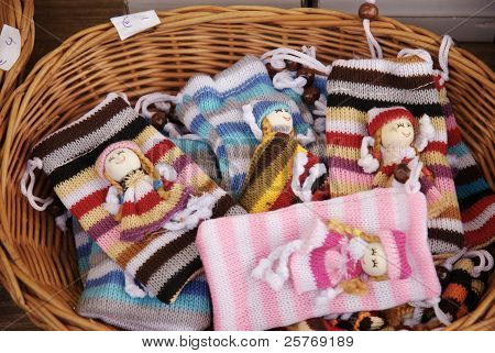 fantasy pockets for handies at the Christmas fair of Wien
