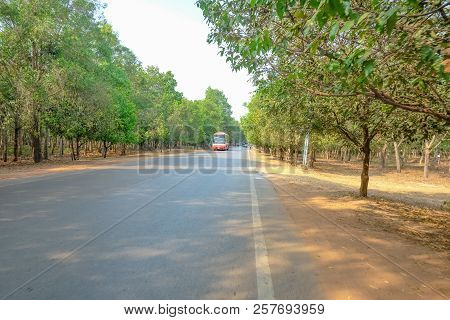 Cambodia Road To Ankor Wat In Siem Reap City Cambodia