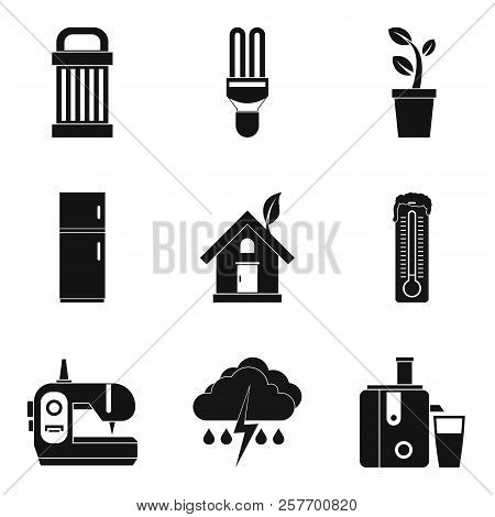 Wind Strength Icons Set. Simple Set Of 9 Wind Strength Icons For Web Isolated On White Background