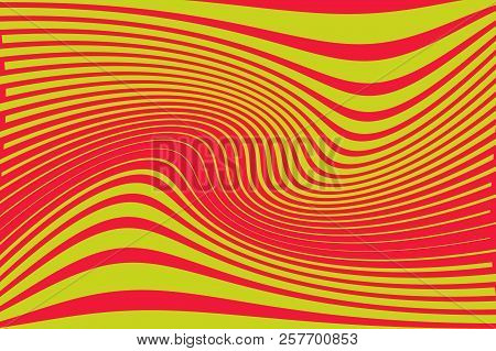 Optical Art Background Glitch Abstract Pattern Curve Random Chaotic Lines Modern, Contemporary Art I