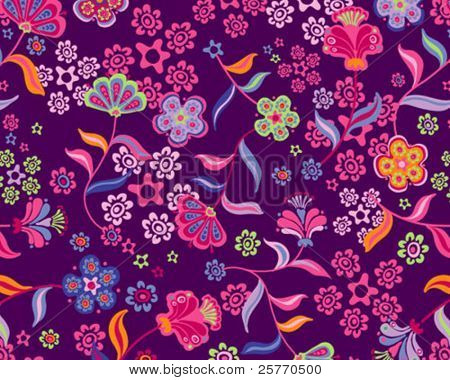 Floral background seamless wallpaper