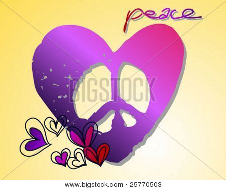 Peace heart vector graphic