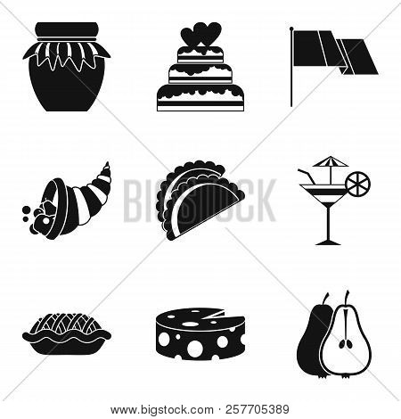 Vino Icons Set. Simple Set Of 9 Vino Icons For Web Isolated On White Background