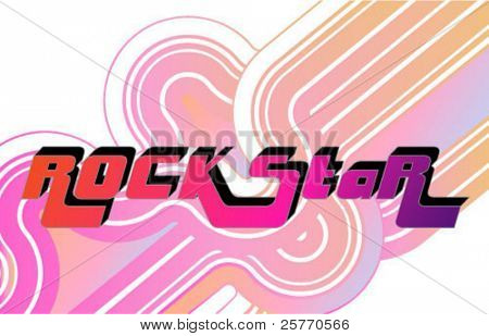 Rock-star Vector Pop Logo