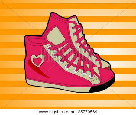 Sneaker shoes vector graphic