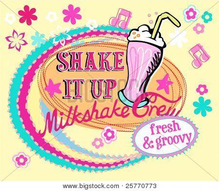 milkshake vector graphic