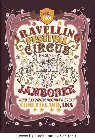 Jahrgang Zirkus poster