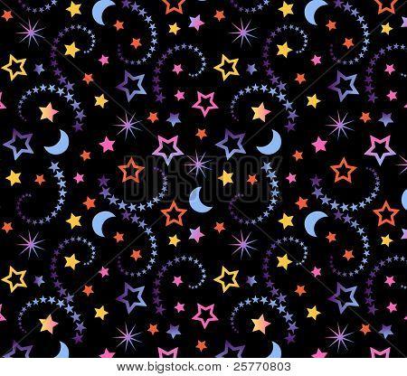 Ditsy celestial wallpaper