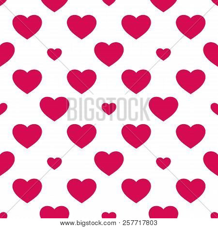 Hearts Seamless Pattern. Valentines Day Background. Love Romantic Theme Pattern. Abstract Vector Geo