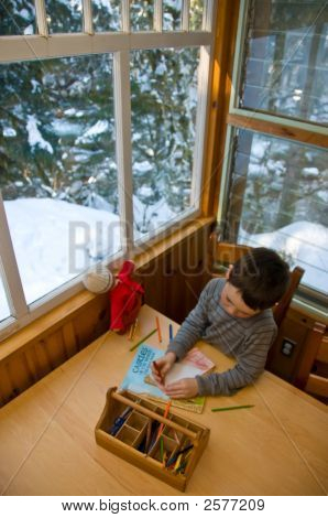 Boy Drawing A Picture