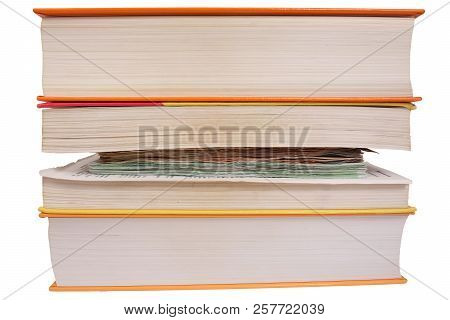 Careless Hiding Of Money Between Book Pages
