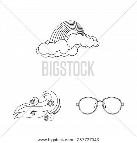 Vector Illustration Of Weather And Weather Logo. Set Of Weather And Application Vector Icon For Stoc