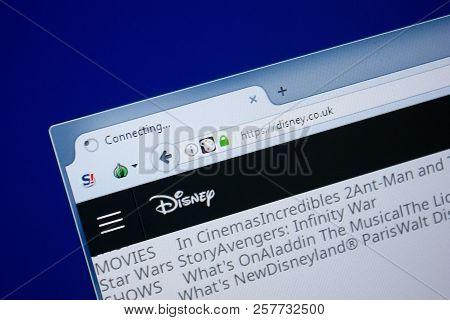 Ryazan, Russia - September 09, 2018: Homepage Of Disney Website On The Display Of Pc, Url - Disney.c