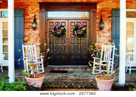 Front Doors And Porch